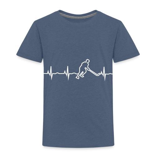 Heartbeat hockey - Mein Herz schlägt für Eishockey - Kinder Premium T-Shirt