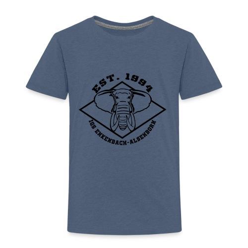 Elefant Logo schwarz - Kinder Premium T-Shirt