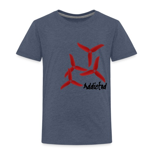 addicted (black) with props (red) - Kinderen Premium T-shirt