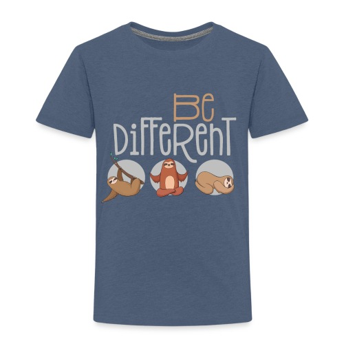 Sei anders und Besonders - be different Faultier - Kinder Premium T-Shirt