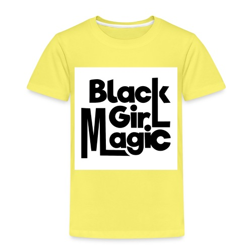 Black Girl Magic 2 Black Text - Kids' Premium T-Shirt