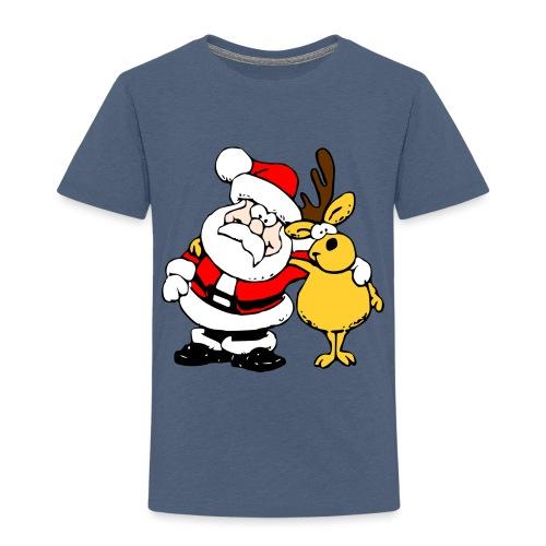 Santa and Reindeer - Kids' Premium T-Shirt
