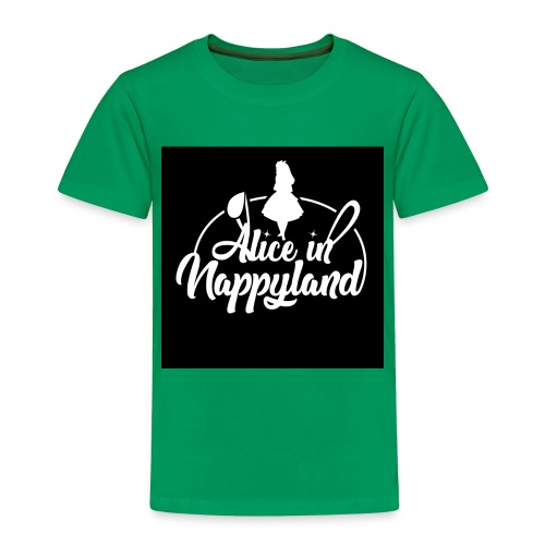 Alice in Nappyland TypographyWhite 1080 - Kids' Premium T-Shirt