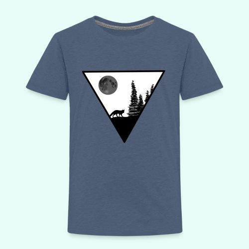 Pleine lune avec renard - T-shirt Premium Enfant
