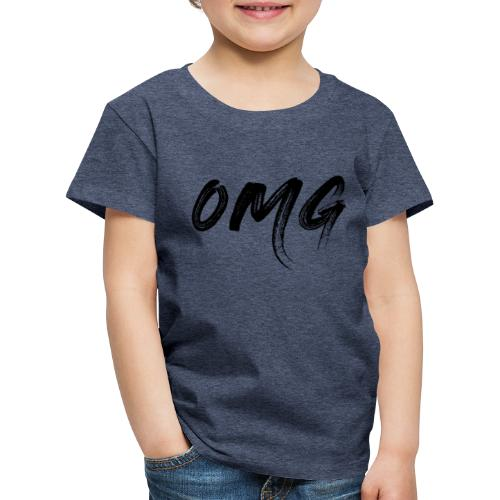OMG, musta - Lasten premium t-paita
