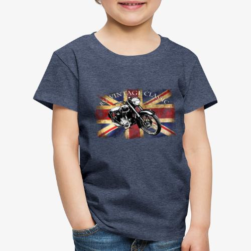 Vintage famous Brittish BSA motorcycle icon - Kids' Premium T-Shirt