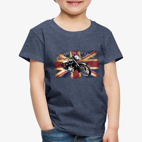 Vintage famous Brittish BSA motorcycle icon - Kids' Premium T-Shirt