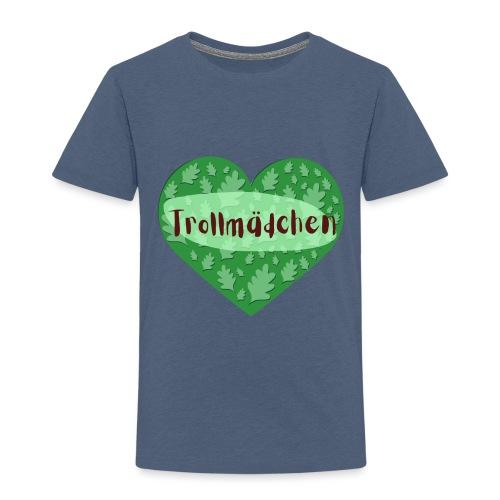 Trollmädchen grün - Kinder Premium T-Shirt