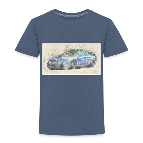 GTR R34 watercolors - Kinder Premium T-Shirt