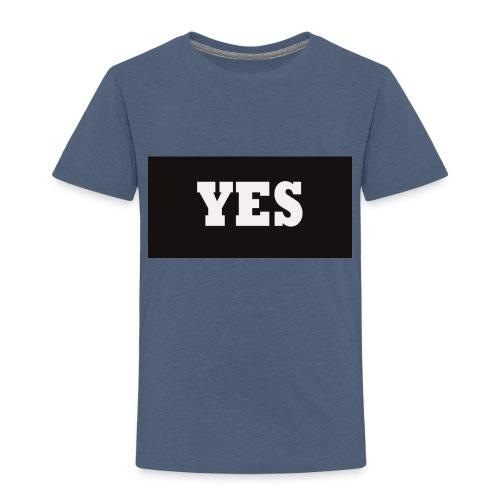 Yes Text - Kinderen Premium T-shirt