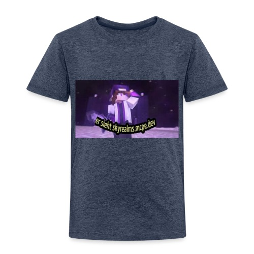 Er sieht skyrealms.mcpe.dev! - Kinder Premium T-Shirt