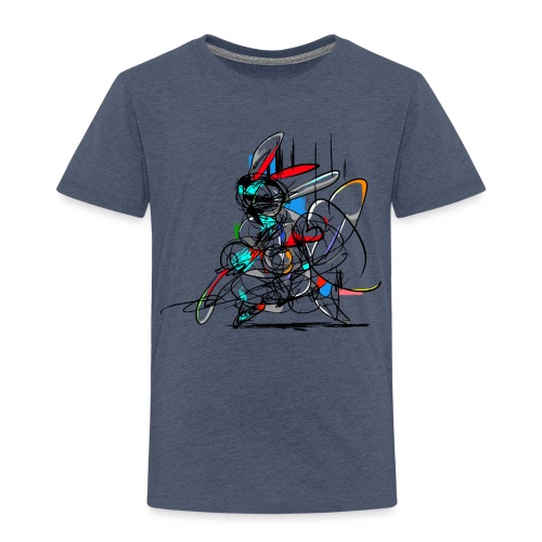 Ninja fighter Easter Bunny / Abstract - Kids' Premium T-Shirt