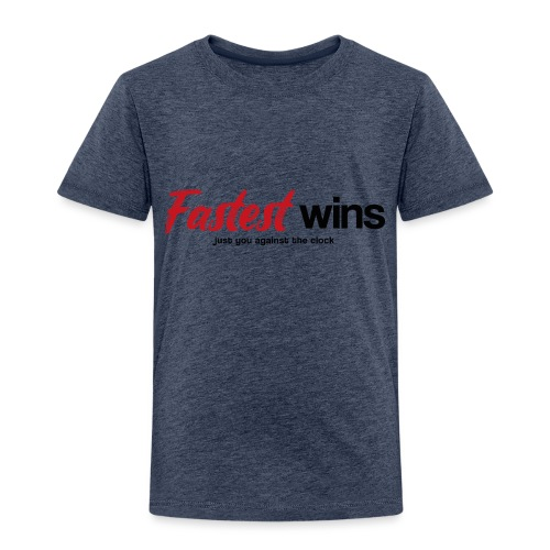 Fastest Wins - Kinder Premium T-Shirt
