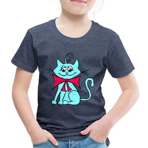 Katze blau - Kinder Premium T-Shirt