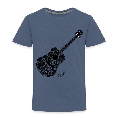 guitar with sig slanted02 - Kids' Premium T-Shirt