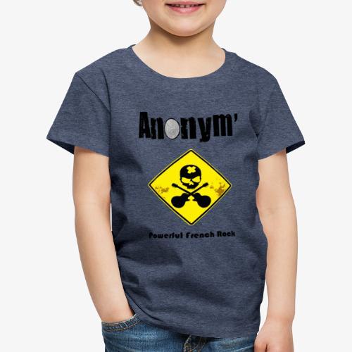 Logo Anonym' noir avec panneau jaune - T-shirt Premium Enfant