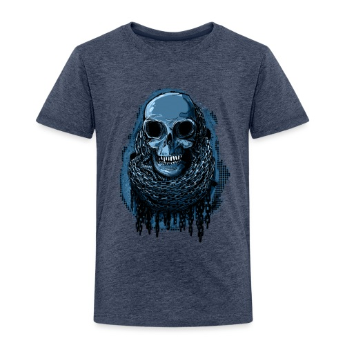 SKULL in CHAINS - deepBlue - Kids' Premium T-Shirt