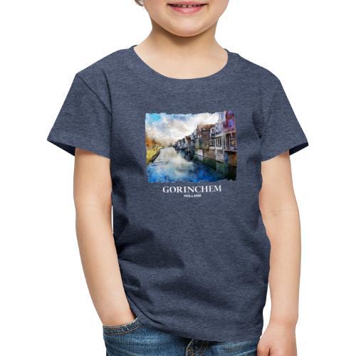 Watercolor painting Appeldijk Gorinchem - Kinderen Premium T-shirt