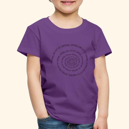 SPIRAL TEXT LOGO BLACK IMPRINT - Kids' Premium T-Shirt