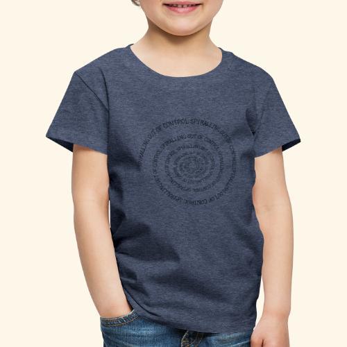SPIRAL TEXT LOGO BLACK IMPRINT - Kids' Premium T-Shirt