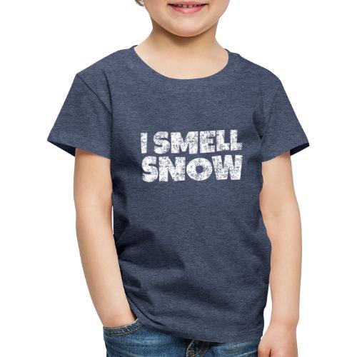 I Smell Snow Schnee, Weihnachten & Wintersport - Kinder Premium T-Shirt