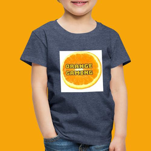 Orange_Logo_White - Kids' Premium T-Shirt