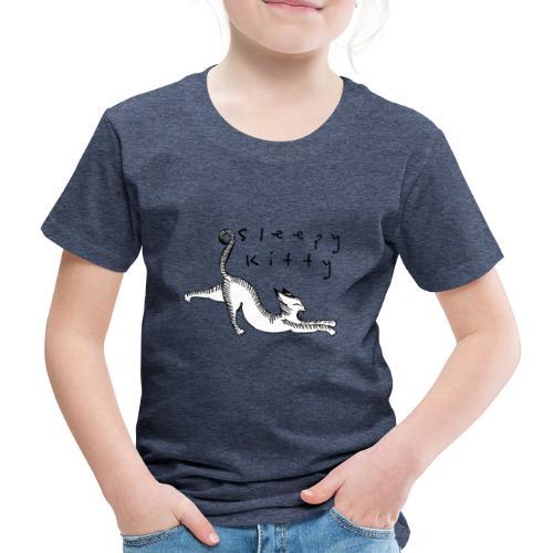 The sleepy kitty - Premium-T-shirt barn