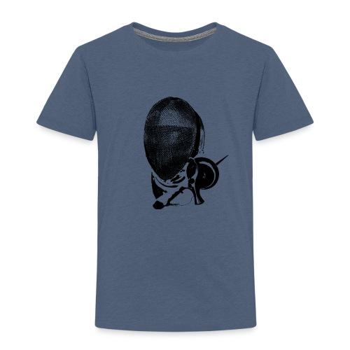 Hard-work-look: Maske und Waffe - Kinder Premium T-Shirt