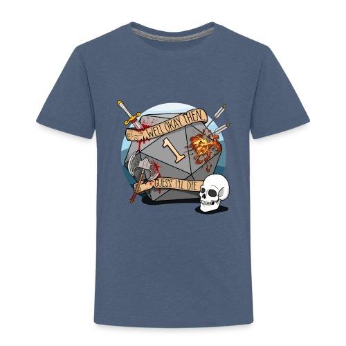Gæt jeg dø - DND D & D Dungeons and Dragons - Børne premium T-shirt