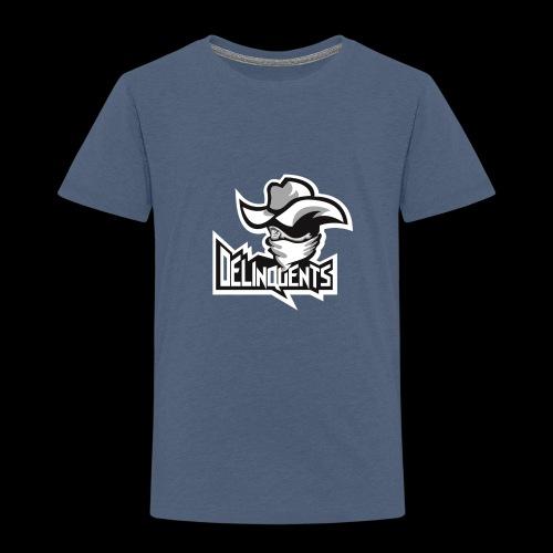 Delinquents Hvidt Design - Børne premium T-shirt