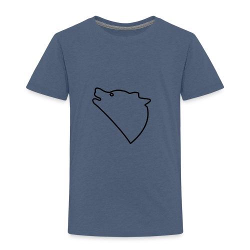 Wolf baul logo - Kinderen Premium T-shirt