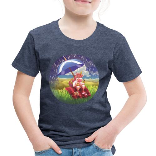 Licorne en Ecosse - Unicorn in Scotland - T-shirt Premium Enfant