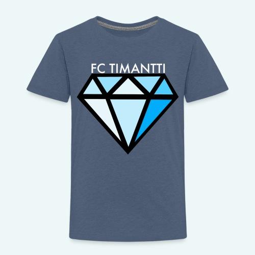 FCTimantti logo valkteksti futura - Lasten premium t-paita