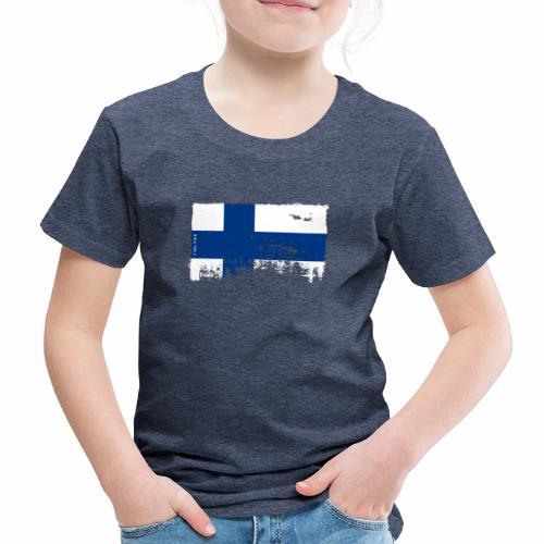 Suomen lippu, Finnish flag T-shirts 151 Products - Lasten premium t-paita