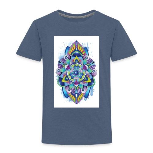 Zentangle watercolour Splash Mandala Design - Kids' Premium T-Shirt