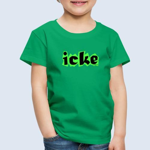 "Berliner Original Mundart ""icke"" PopArt Design - Kinder Premium T-Shirt"