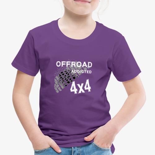 Defender Land-Rover OFF Road White - Kinder Premium T-Shirt