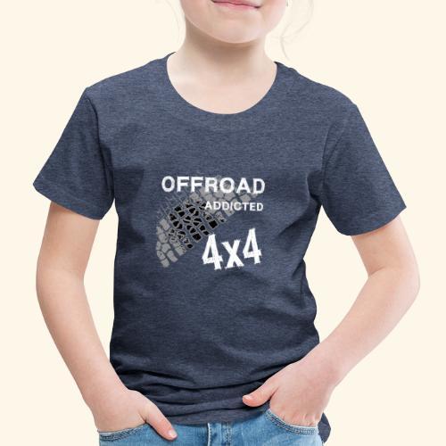 OFFroadAddictedWhite - Kinder Premium T-Shirt