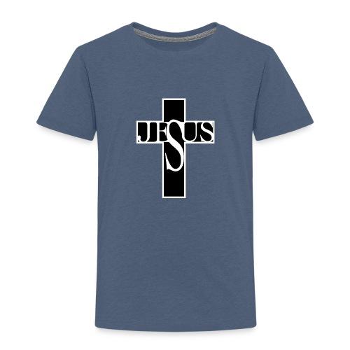 Jesuskors med text - Premium-T-shirt barn