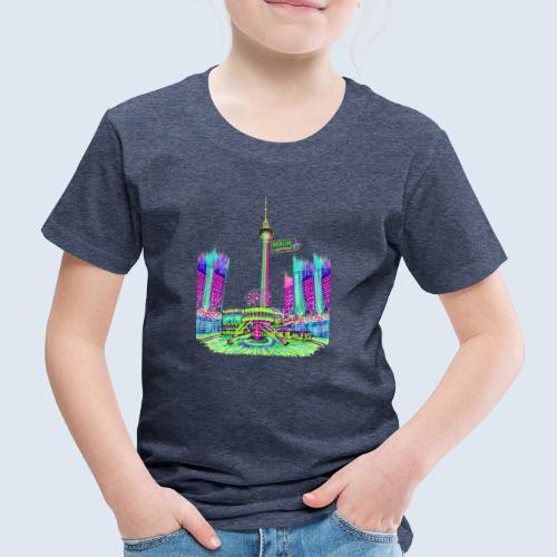Alexanderplatz Berlin Popart ickeshop BachBilder - Kinder Premium T-Shirt