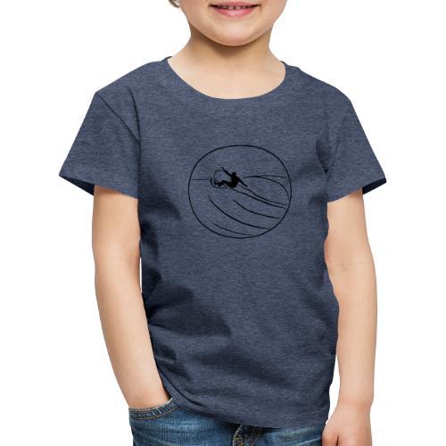 Surfer2 auf Welle Nr.1 - Kinder Premium T-Shirt