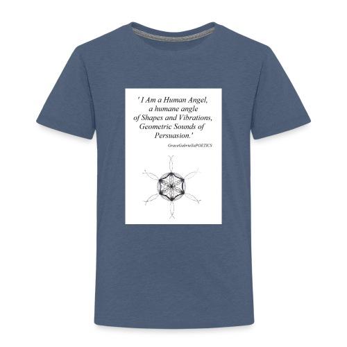 'Human Angel' GraceGabriellaPOETICS - Kids' Premium T-Shirt