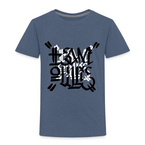 teamoullie logo white - Kinderen Premium T-shirt