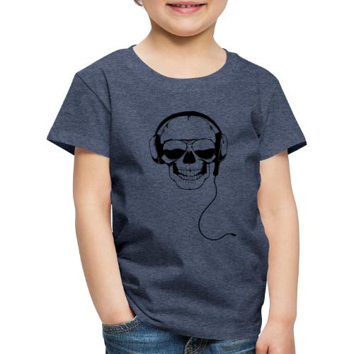 Nerdpappan Custom - Earphone Skull - Premium-T-shirt barn