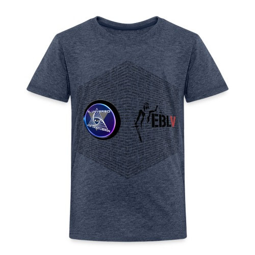 disen o dos canales cubo binario logos delante - Kids' Premium T-Shirt