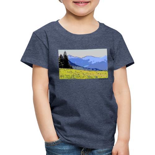 Berge künstlerisch - Kinder Premium T-Shirt