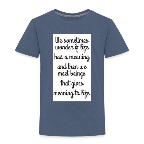 Phrase d'amour en anglais - T-shirt Premium Enfant