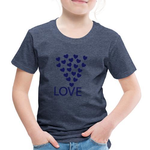 LOVE Herz - Kinder Premium T-Shirt