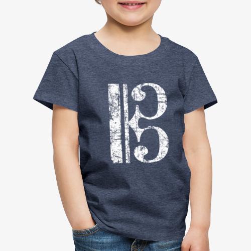 C-Schlüssel für Bratsche, Viola, Cello und Posaune - Kinder Premium T-Shirt