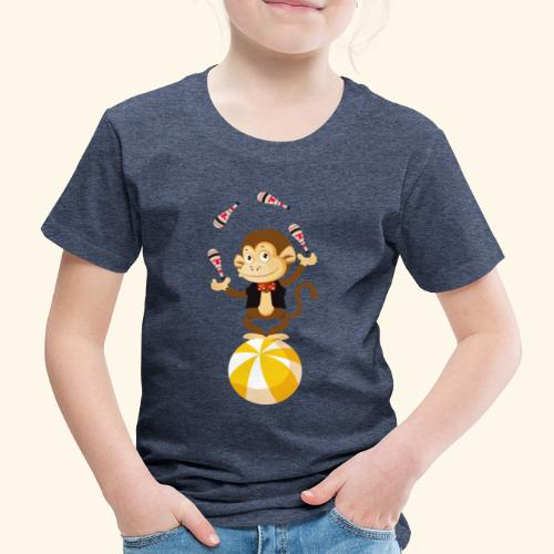 Lustiger Affe auf einem rollenden Ball - Kinder Premium T-Shirt
